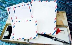 ♥Printable Vintage Airmail stationery Set♥