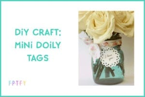 diy craft mini doily tags