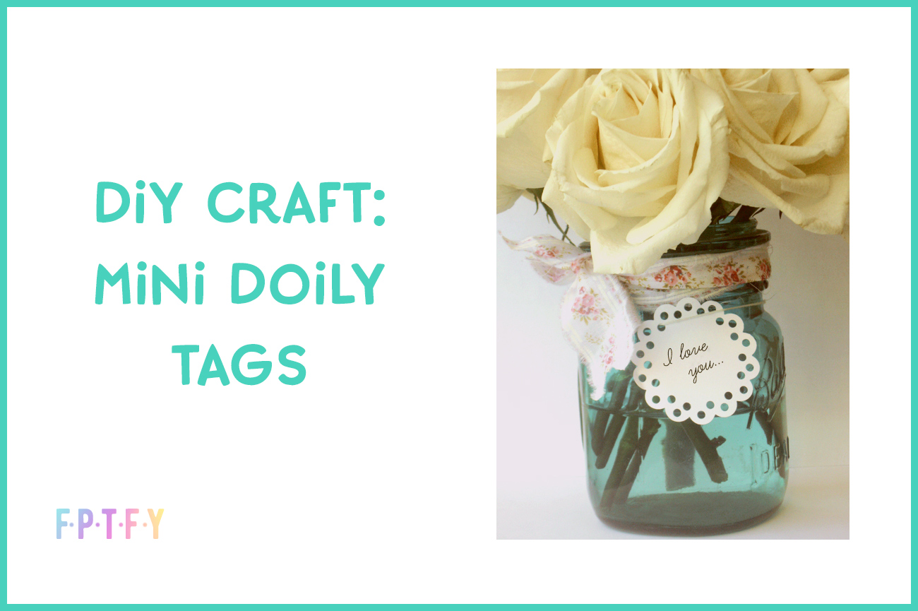 diy craft mini doily tags