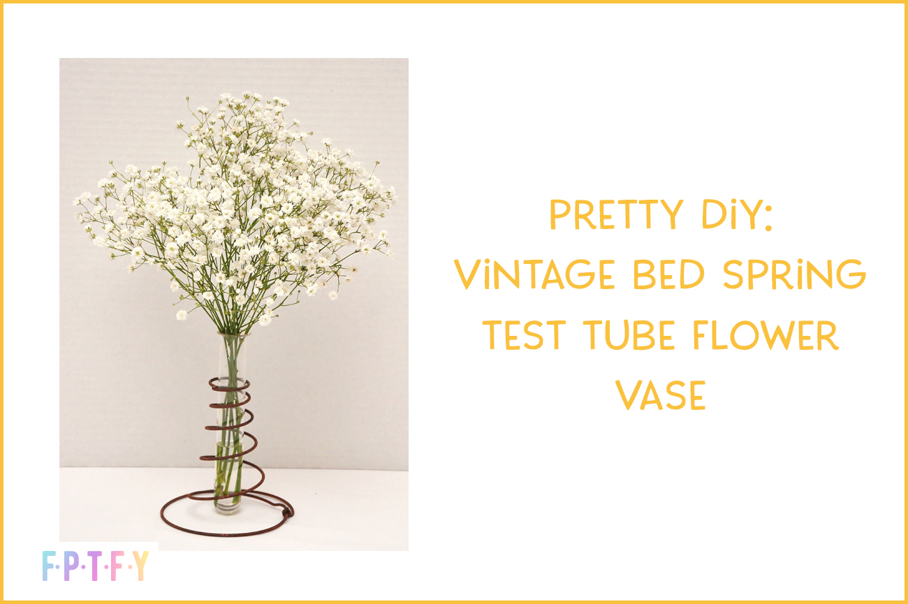 Pretty diy vintage bed spring and test Tube