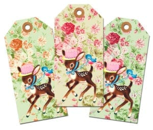 ♥Freebie Vintage Image: Easter Tags for You Deer!♥