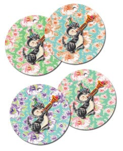 ♥ Freebie Image: Happy Birthday Vintage Kitty Tags!♥