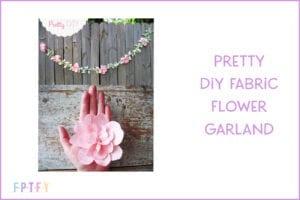 pretty diy fabric flower garland