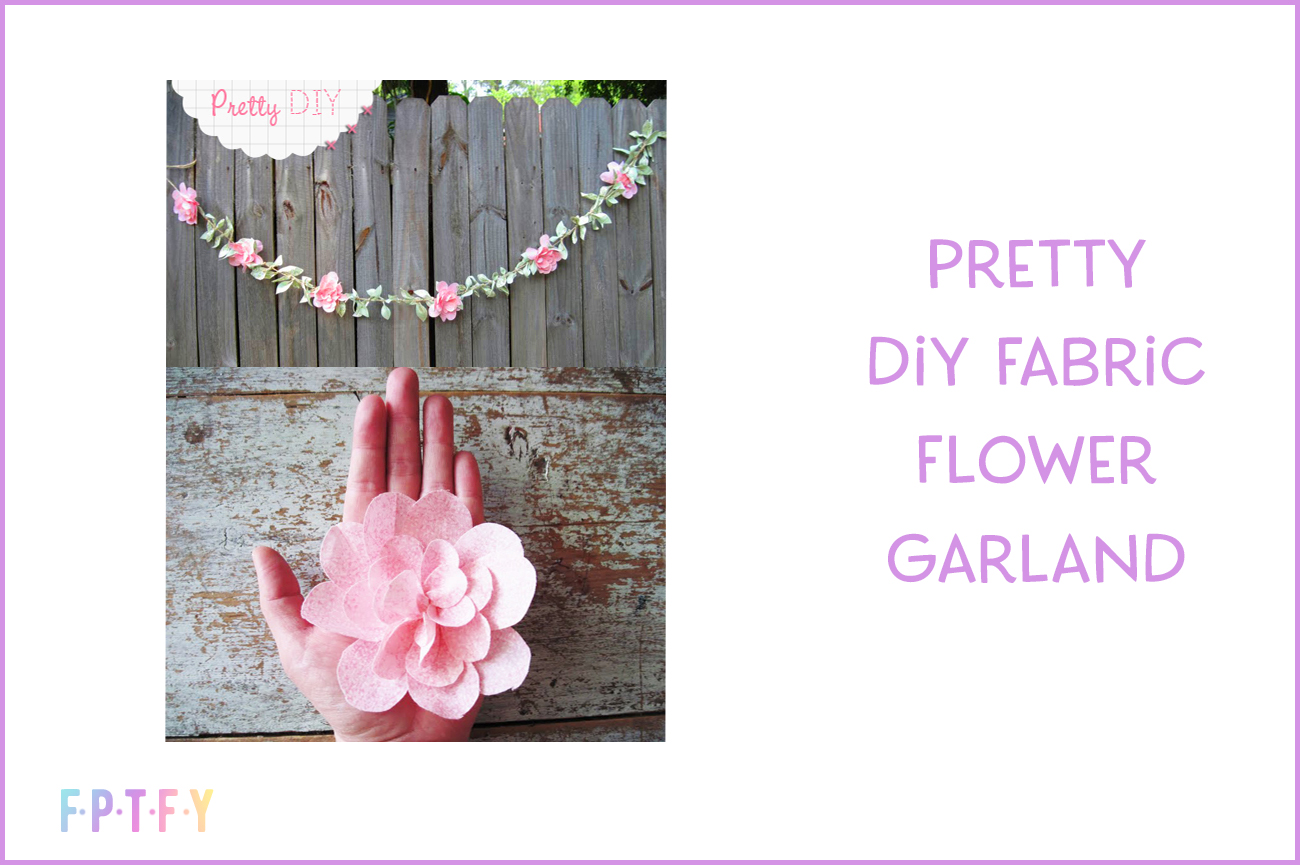 pretty diy fabric flower garland
