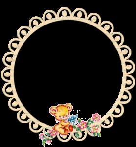 ♥Freebie Image: Vintage Baby Bear Post Pretties ♥