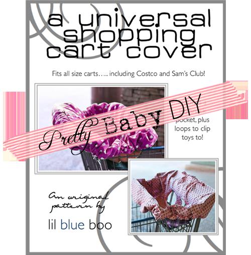 pretty diy  free universal shopping cart cover pattern