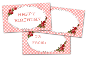 ♥Freebie Image: Pretty Happy Birthday Tags!♥