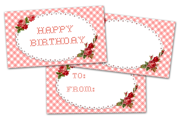 Freebie Image Pretty Happy Birthday Tags Free Pretty
