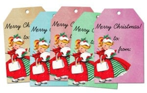♥ Freebie Image: Vintage Christmas Tags! ♥