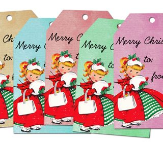 ♥ Freebie Image: Vintage Christmas Tags! ♥
