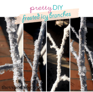 ♥ Pretty DIY: Frosted Icy Branches! ♥