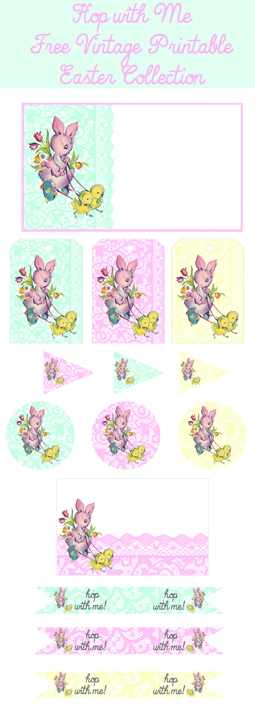 ♥ Hop with Me Free Printable Party Collection! ♥