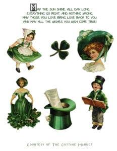 ♥ Free Vintage Image: St. Patrick'sDay  Clip Art + a friendly reminder ♥