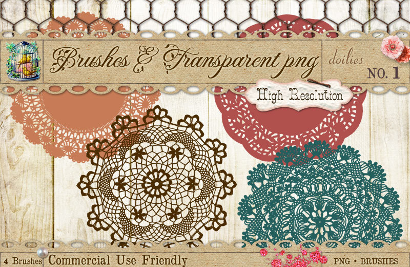 Doily PS brushes PNG