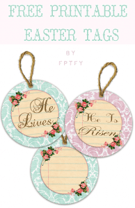 ♥ Free Image: Pretty Easter Tags ♥