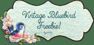 Free Vintage Bluebird Blog Banner