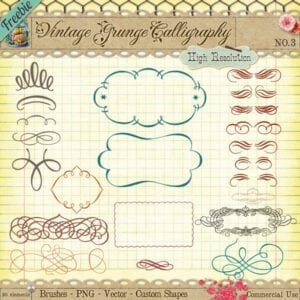 Free Vintage Calligraphy Clip Art and Brushes