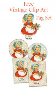 Free Vintage Clip Art Tag Set
