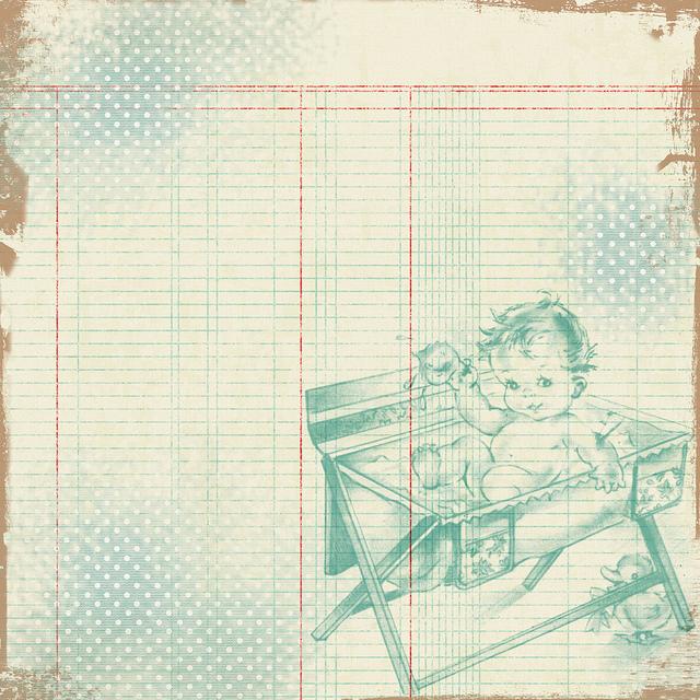 Free Vintage Digital Scrapbooking Paper Vintage Baby Free Pretty