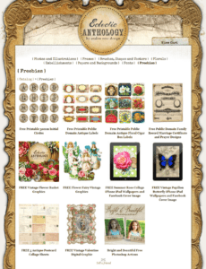 Free Vintage Clip Art and More by Eclectic Anthology