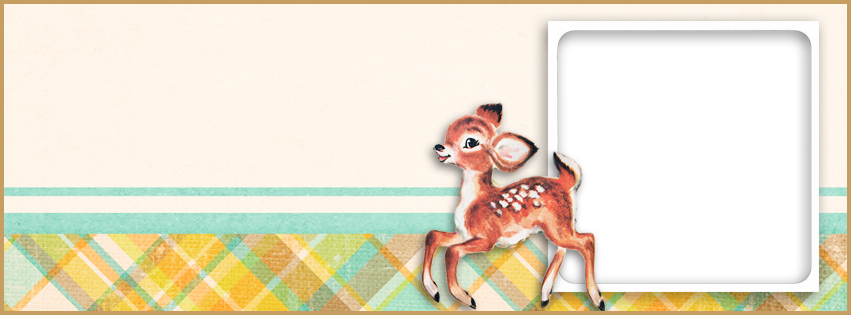 2 Free Vintage Deer Facebook Covers