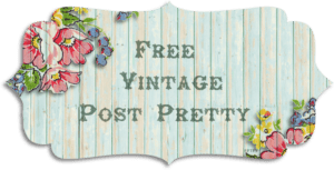 Free Vintage Post Pretty/Blog Banner