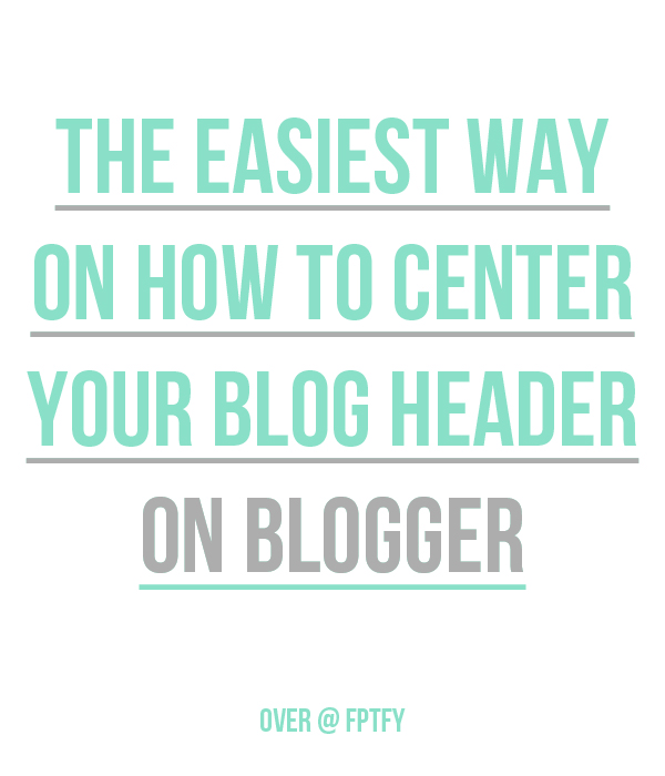 How-to-center-blog-header