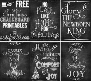 Free Christmas Chalkboard Printable Posters!