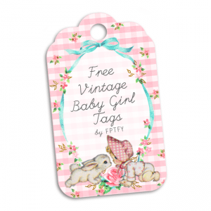 Free Vintage Baby Girl Tags