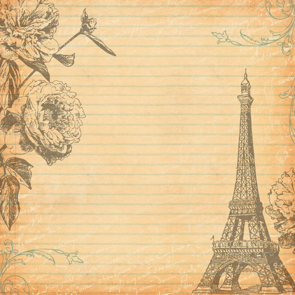 Free Digital Scrapbooking Paper Paris 1 by FPTFY