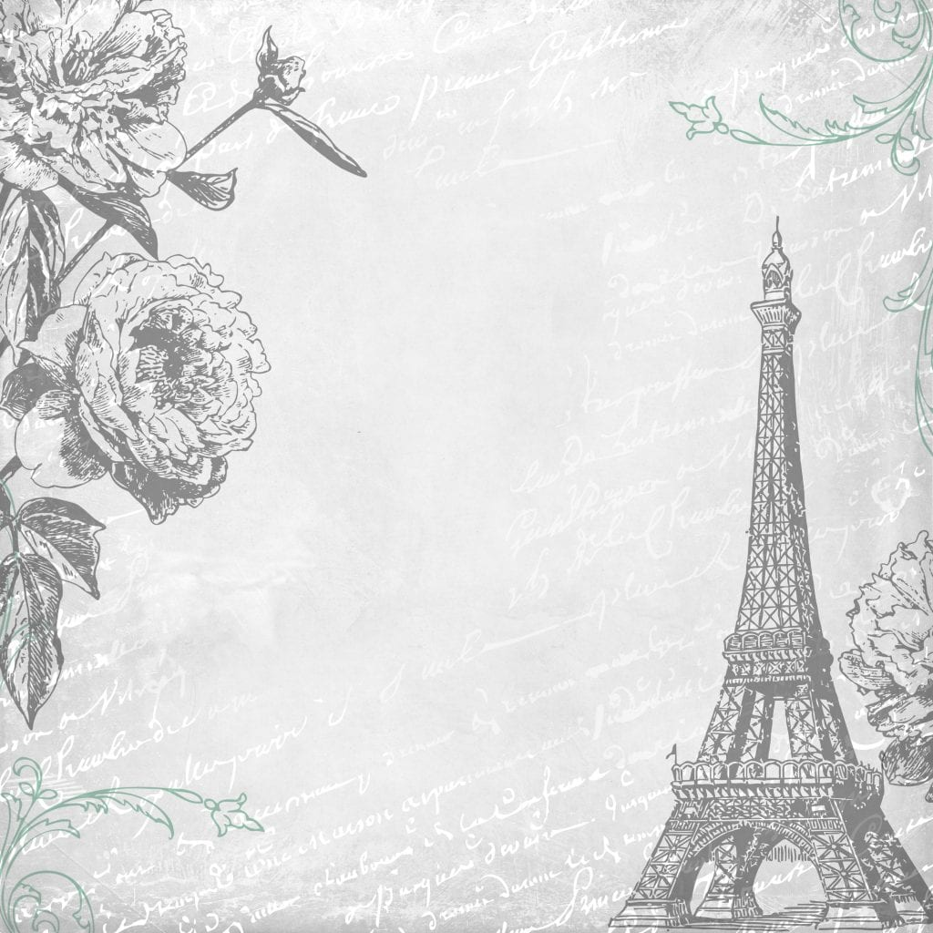Free Digital Scrapbooking Paper Paris 4 by FPTFY