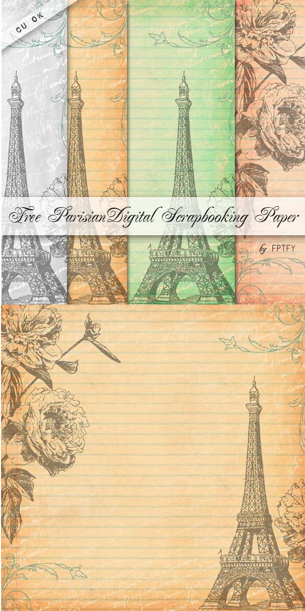 Free Parisian Digital Scrapbooking Paper Cu Ok Free Pretty