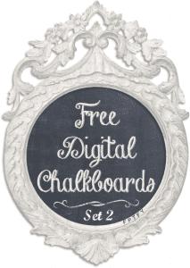 Free Cottage Style Digital Chalkboards