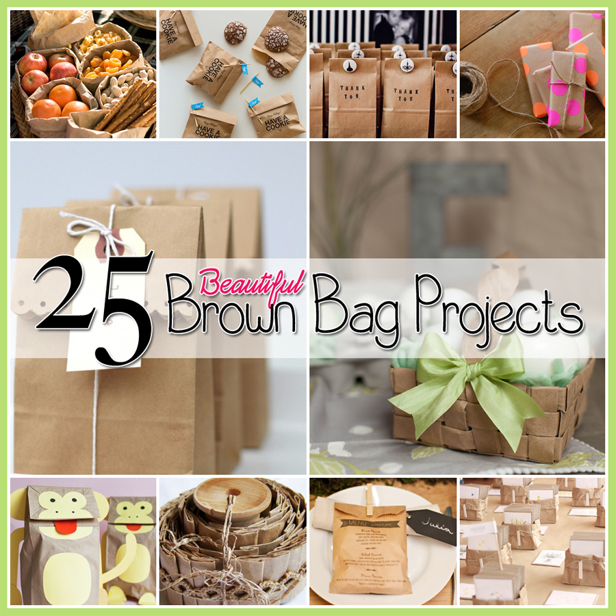 brown papger bag diys