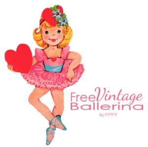 Free Vintage Valentine Ballerina Clip Art and Pretty DIY