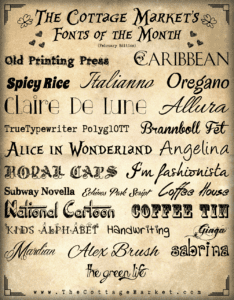 Free Monthly Fonts ♥