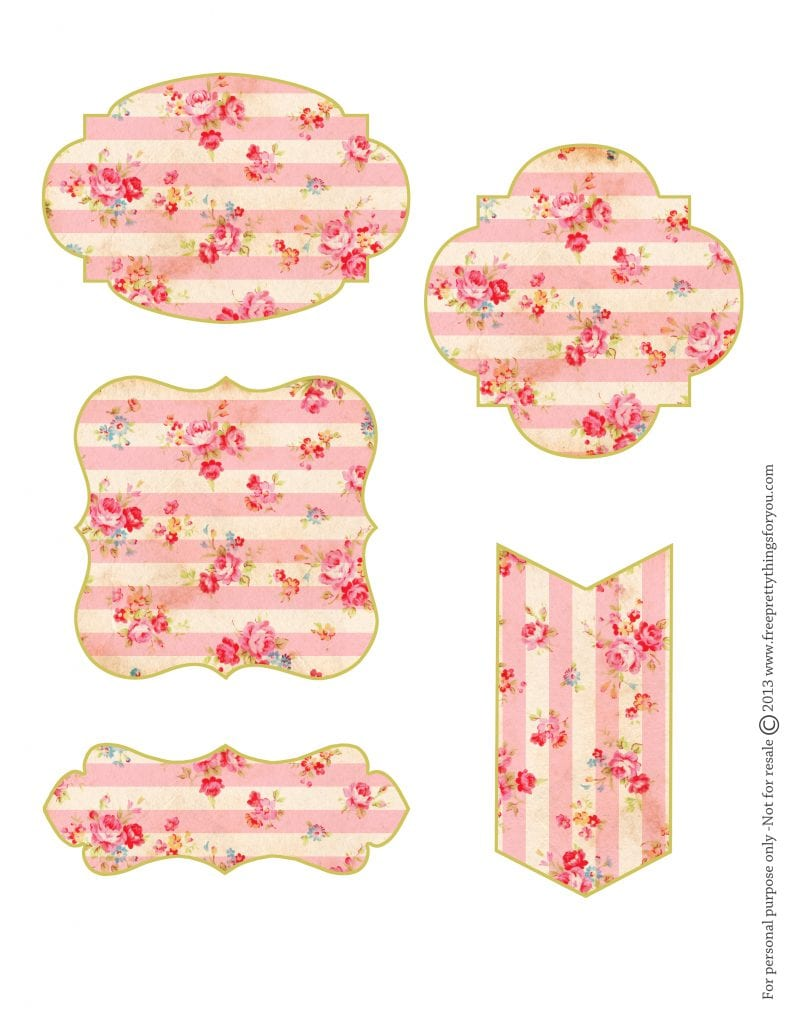Free Shabby Floral Tags by FPTFY