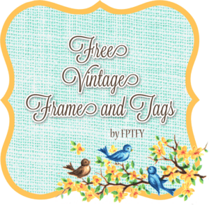 Free Vintage Bluebird Frame and Tags!