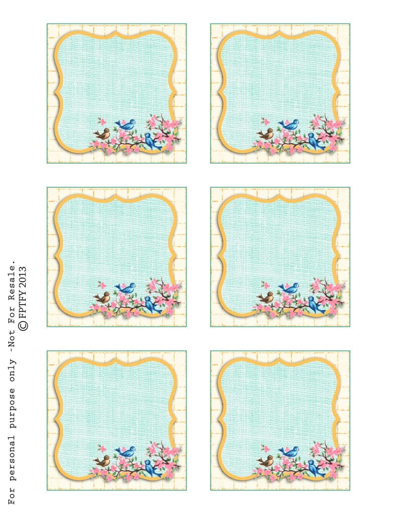 Free Vintage Bluebird Tags Pink 2013 by FPTFY