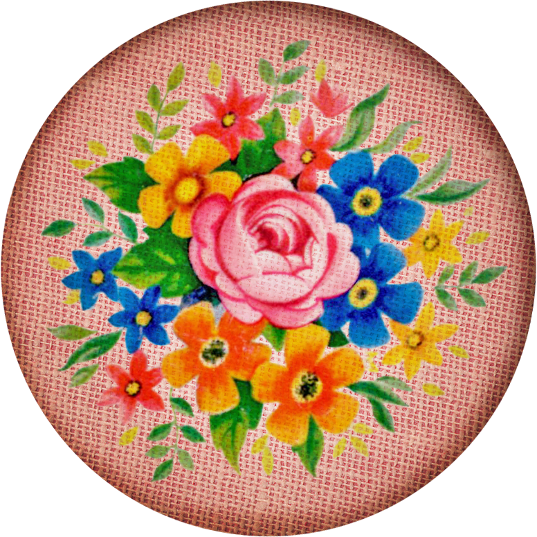 Free digital scrapbooking vintage fabric button2 FPTFY