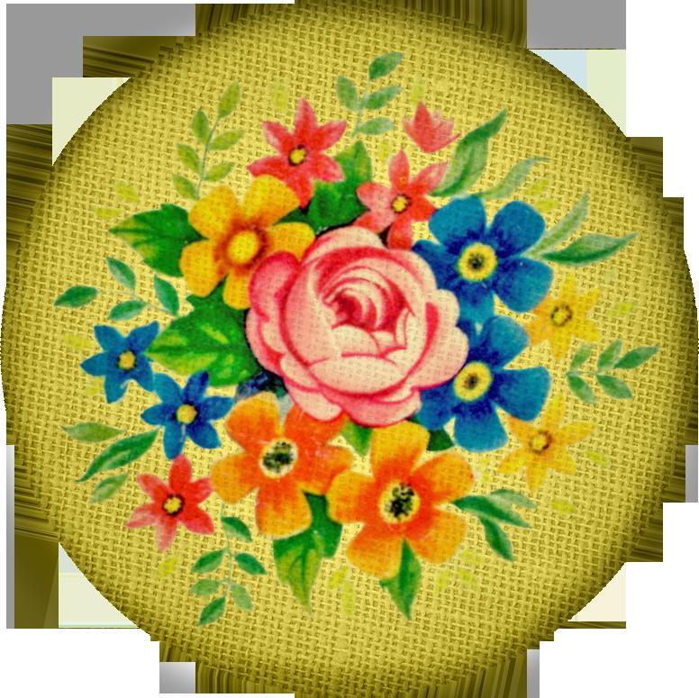 Free digital scrapbooking vintage fabric button3 FPTFY