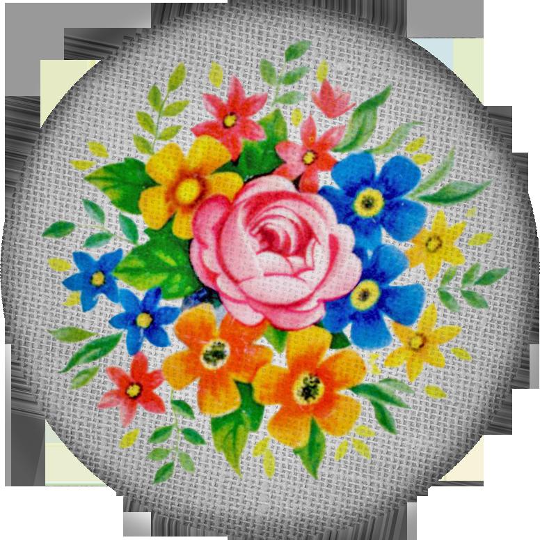 Free digital scrapbooking vintage fabric button4 FPTFY