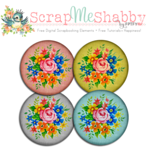 Free Digital Scrapbooking Fabric Covered Buttons CU ok!