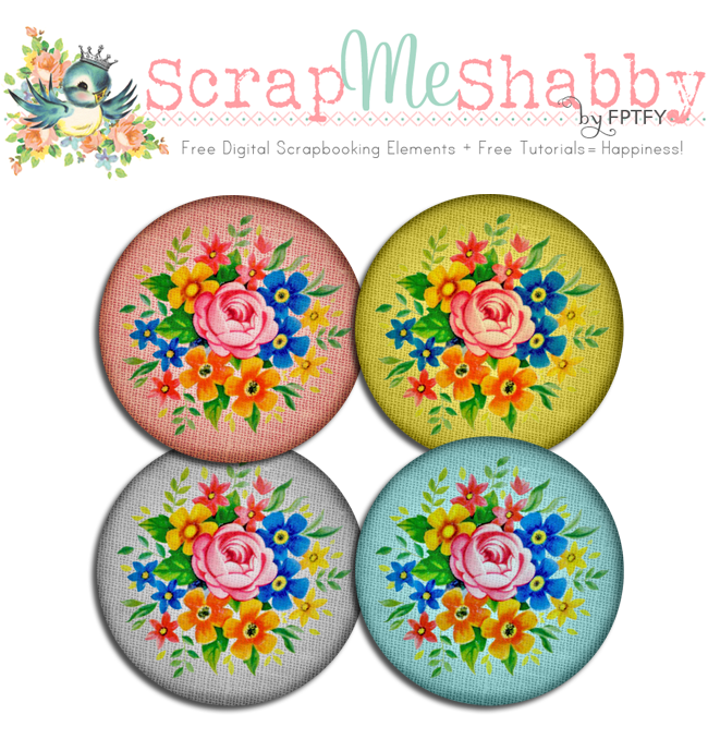 Free digital scrapbooking vintage fabric buttons by FPTFY web ex