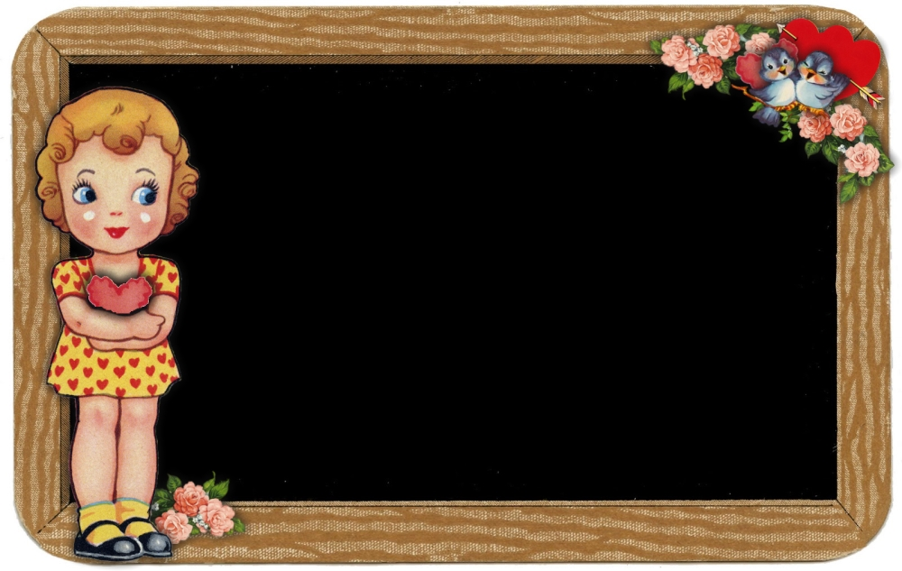 Girl Chalkboard Frame - sweetly scrapped