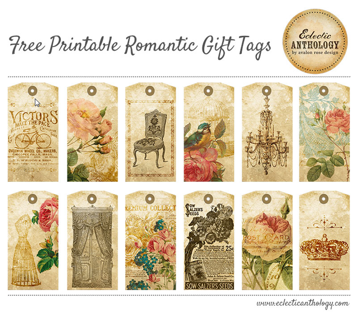 Romantic Rose Tags