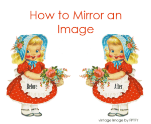 how to mirror an image