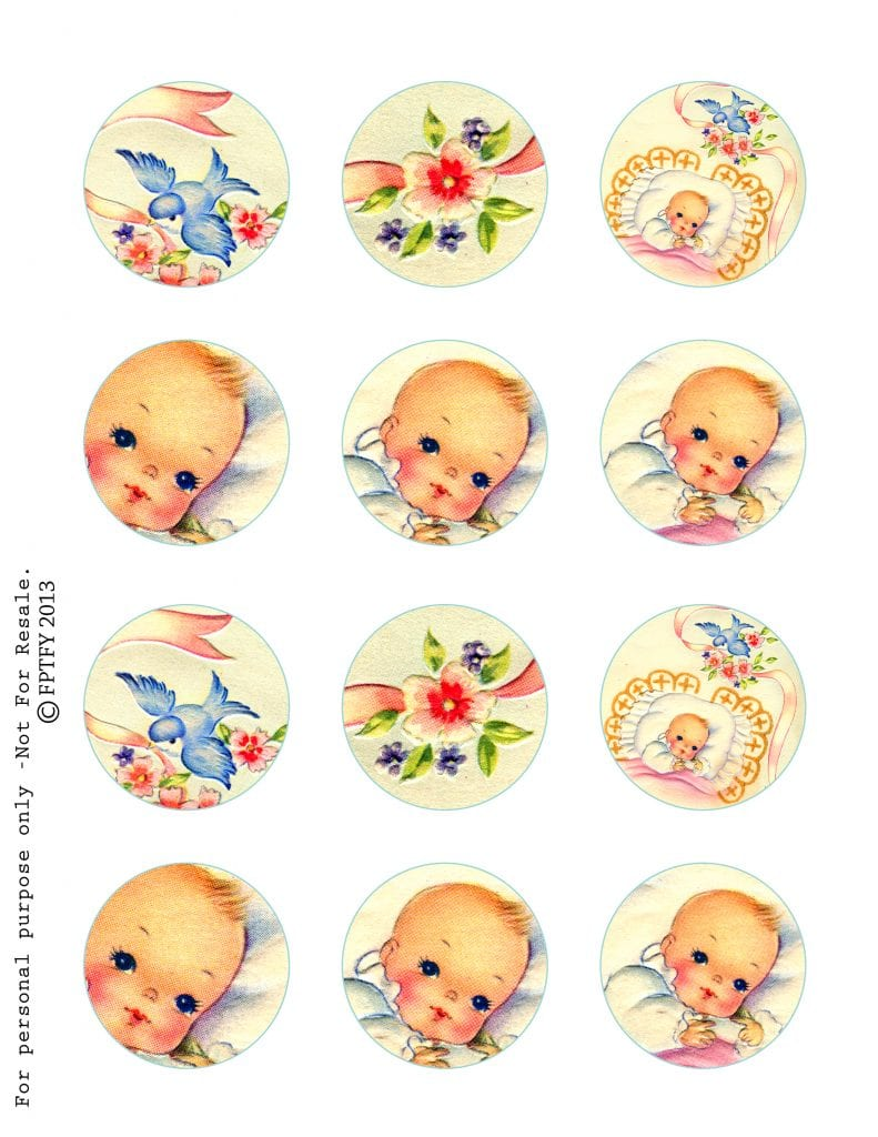 Free Vintage Baby images Circle Page
