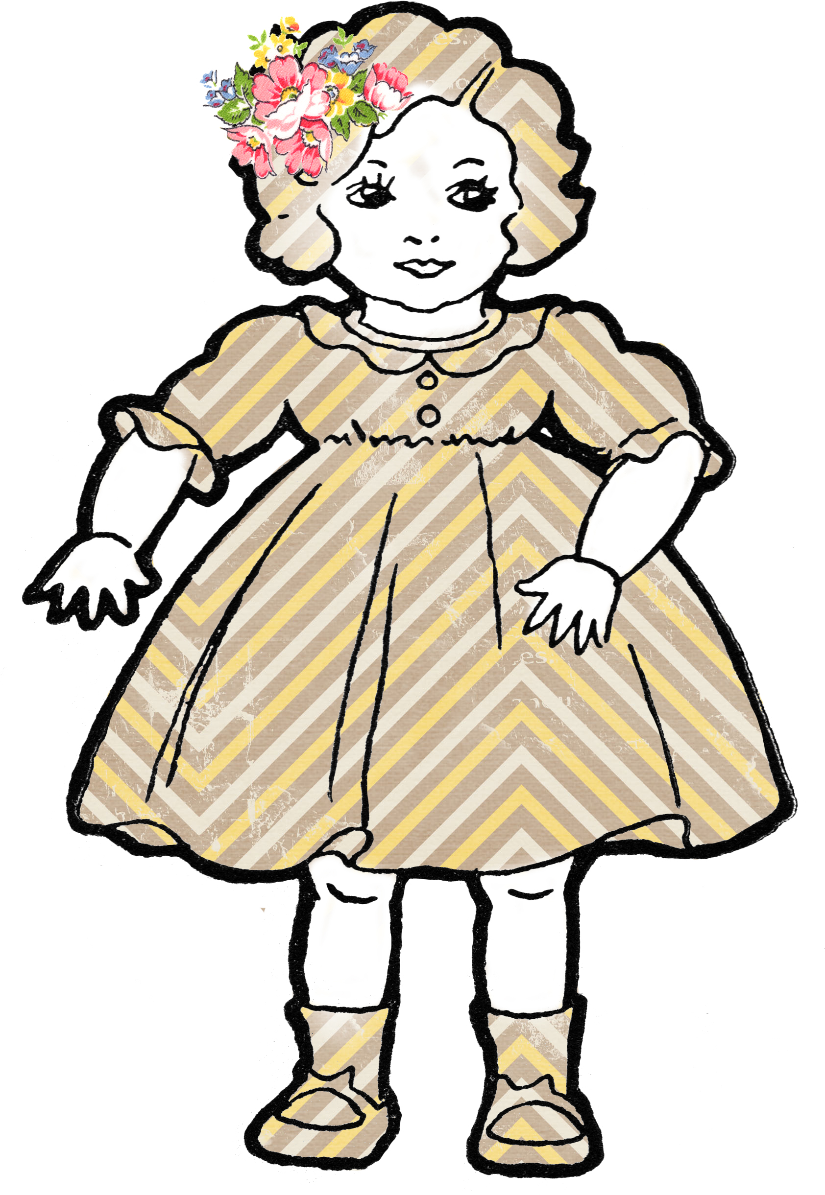 Adorable Altered Art Shabby Dolls Vintage Clip Art - Free ...