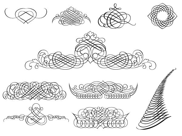 Calligraphic-Ornaments